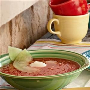 Watermelon Mint Gazpacho Recipe