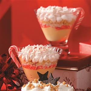 White Chocolate-Candy Cane Parfaits Recipe