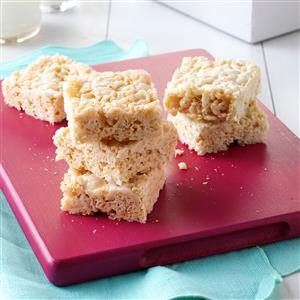 White Chocolate Cereal Bars Recipe