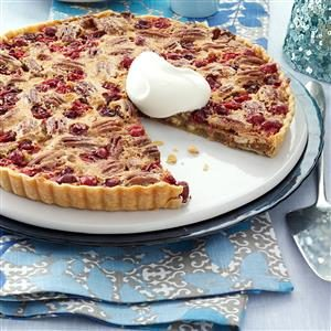 White Chocolate-Cranberry-Pecan Tart Recipe