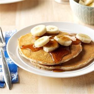 Whole Grain Banana Pancakes Recipe