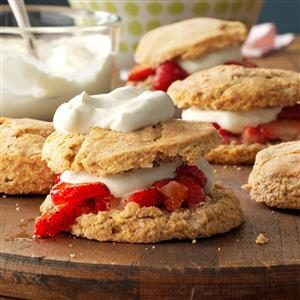 Whole Wheat Strawberry Shortcakes Recipe