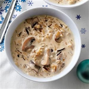 Wild Rice and Mushroom Soup Recipe