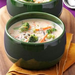 Wild Rice with Broccoli Soup Recipe