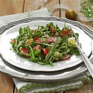 Wilted Arugula Salad Recipe
