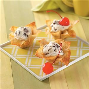 Wonton Sundaes Recipe