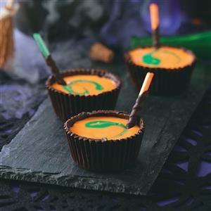 Yogurt-Filled Chocolate Cauldrons Recipe