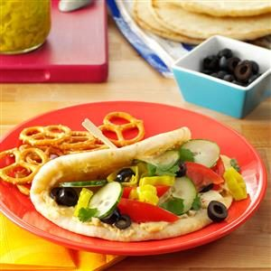 Zesty Veggie Pitas Recipe