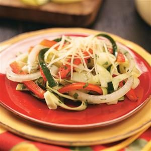 "Zucchini ""Linguine"" Salad Recipe"