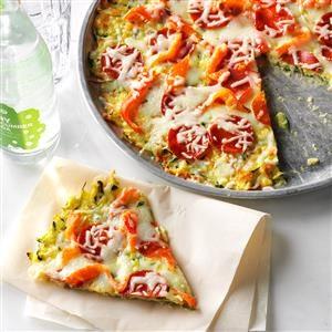 Zucchini Crusted Pizza Recipe
