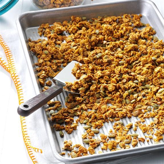 Baking homemade granola on a 15x10x1-in pan.