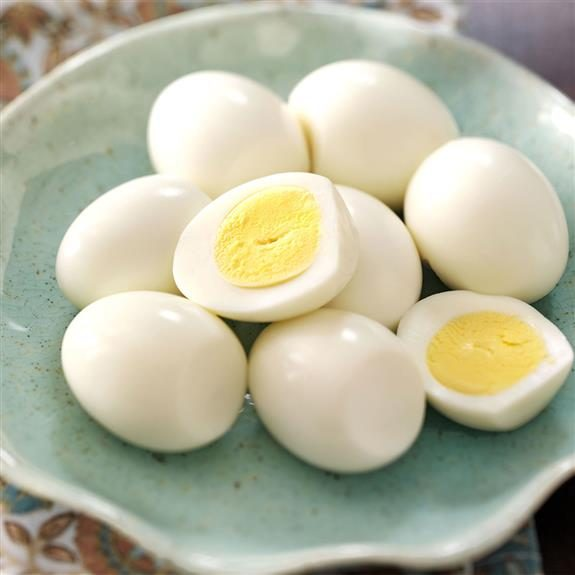 Peeled and sliced hard-boiled eggs