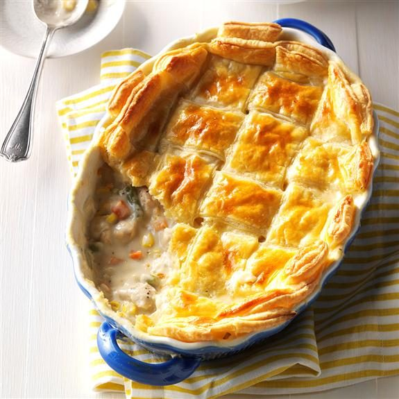 Puff Pastry Chicken Potpie recipe from Taste of Home.
