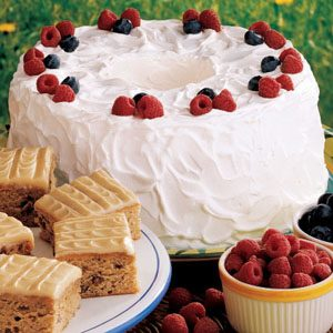 Image of Angel Berry Tunnel Cake Recipe, Taste of Home