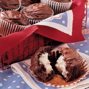 Relleno de crema de chocolate Magdalenas Receta
