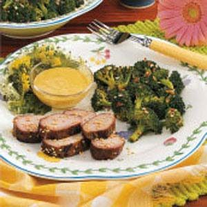 Grilled Pork with Hot Mustard