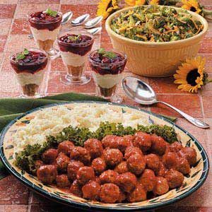 Sweet 'n' Sour Meatballs Meal