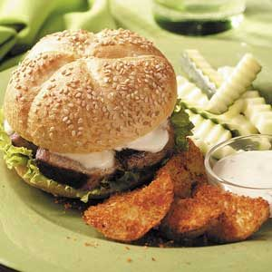 Grilled Pork Tenderloin Sandwiches Meal