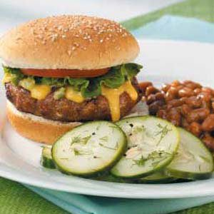 Turkey Burgers with Jalapeno Cheese Sauce Meal