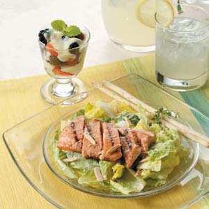 Salmon Caesar Salad Meal