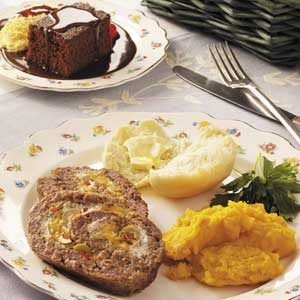 Cheese-Filled Meat Loaf Recipe