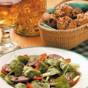 Spinach Beef Salad Meal