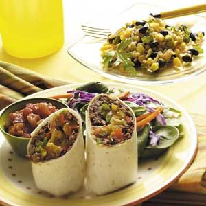 Three-Pepper Beef Wraps Meal