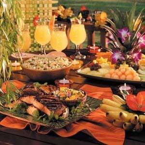 Backyard hawaiian luau taste of home for How to make luau decorations at home