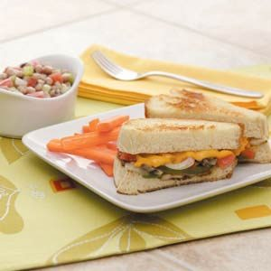 Veggie Cheese Sandwiches Meal