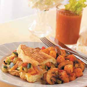 Fresh Vegetable Omelet Meal