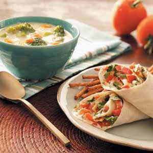 Garden Vegetable Wraps Meal