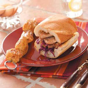 Pork Cabbage Sandwiches Meal