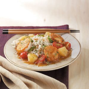 Sweet-and-Sour Scallops Meal
