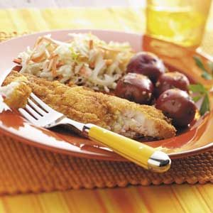 Mustard Fried Catfish Meal
