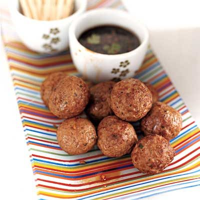 Image of Asian Meatballs With Spicy Lime Dipping Sauce, Rachael Ray Magazine