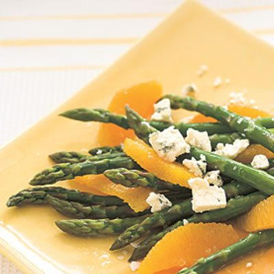 Image of Asparagus, Orange And Blue Cheese Salad, Rachael Ray Magazine