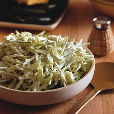 Image of Apple And Celery Slaw With Blue Cheese Dressing, Rachael Ray Magazine