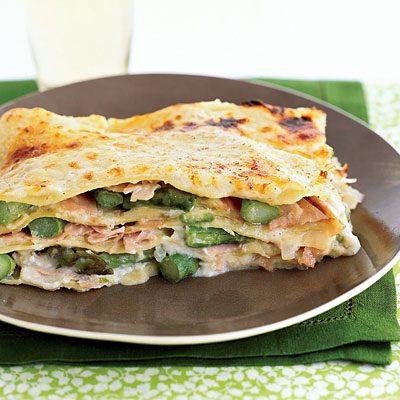 Image of Asparagus-Ham Lasagna, Rachael Ray Magazine