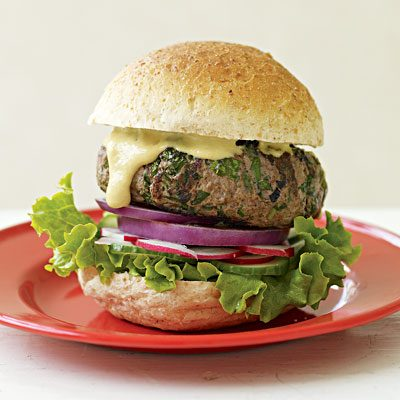 Image of Audacious, Herbaceous Beef Burgers, Rachael Ray Magazine