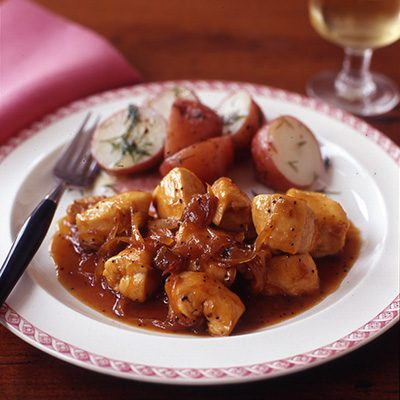 Image of Apricot Poppy Chicken With Dill Potatoes, Rachael Ray Magazine