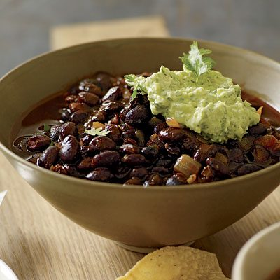 Image of Ancho-Black Bean Chili, Rachael Ray Magazine