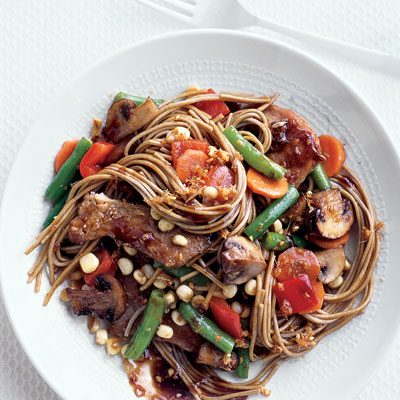 Image of Asian Noodles With Vegetables And Pork, Rachael Ray Magazine