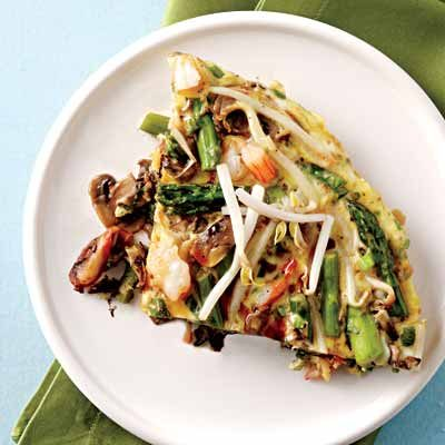 Image of Asian-Style Shrimp Frittata, Rachael Ray Magazine