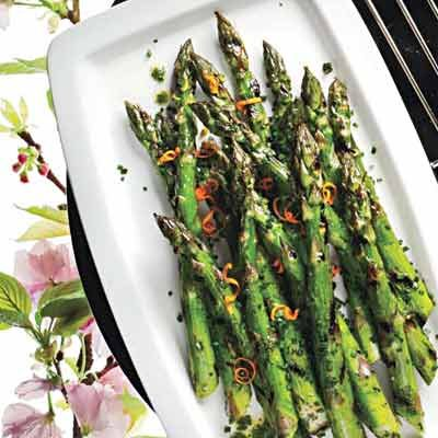 Image of Asparagus With Parsley-and-Orange Butter, Rachael Ray Magazine