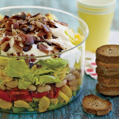 Seven layer salad recipes