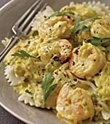 Creamy Saffron Farfalle with Crab and Shrimp