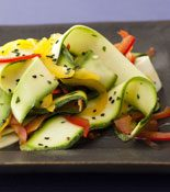 Zucchini Ribbons and Peppers