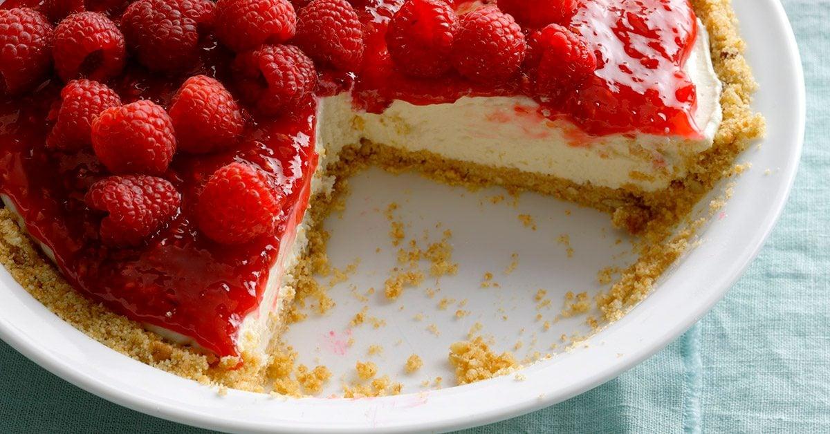 Contest-Winning Raspberry Cream Pie Recipe | Taste of Home