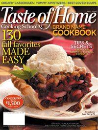 Taste of Home Cooking School Brand Name Cookbook
