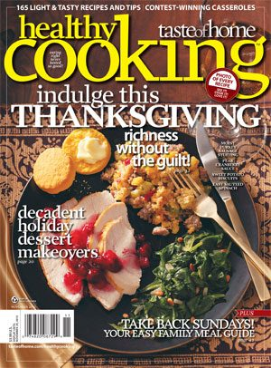 Sept. 28 - Healthy Cooking October/November 2010 Issue
